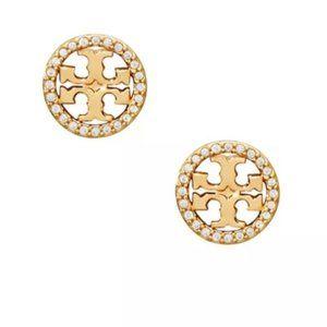 tory burch gold crystal earrings